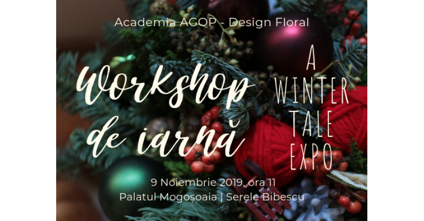 Design floral de iarnă - Workshop